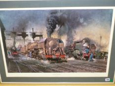 AFTER TERENCE CUNEO (1907-1996). ARR. STABLING FOR GIANTS, THE LOCOMOTIVE DEPOT, BOULOGNE. LIMITED