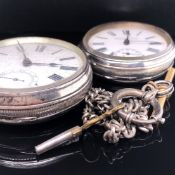 A VICTORIAN HALLMARKED SILVER OPEN FACE POCKET WATCH DATED FOR FIELDING BROS, PATENT LEVER DATED