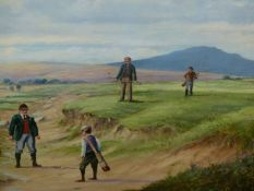 MICHAEL MATHEWS (20th/21st.C.). ARR. WELL OFF THE FAIRWAY. OIL ON BOARD, SIGNED. 46 x 61cms.