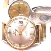 A VINTAGE OMEGA WATCH, MID 20th CENTURY, STAINLESS STEEL CASE, SUB SECOND DIAL TOGETHER WITH A