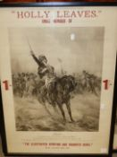 AFTER SIR W. ORCHARDSON. THE SURRENDER OF NAPOLEON TO GREAT BRITAIN, AN ADVERTISING PROOF POSTER FOR