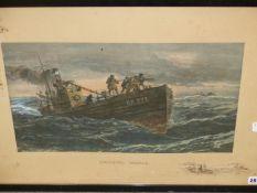 SNAFFLES (CHARLES JOHNSON PAYNE). GENTLEMAN UNAFRAID. PENCIL SIGNED COLOUR PRINT. 47 x 68cms.