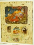 ROY FAIRCHILD WOODARD (b. 1953). ARR. SONGS TO SING. LIMITED EDITION COLOUR PRINT. 86 x 67cms.