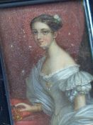 A GROUP OF FIVE ANTIQUE MINIATURE PORTRAITS, VARIOUS SUBJECTS INCLUDING SHAKESPEARE, NAPOLOEON AND