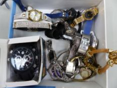 A QUANTITY OF VARIOUS WRIST WATCHES.