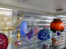 VARIOUS ART GLASS ETC.