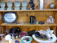 MEAT PLATTERS, SMALL MIRROR DECORATIVE ORNAMENTS ETC.