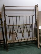 A BRASS DOUBLE BED FRAME.
