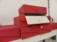 SIX GOVERNMENT DEED BOXES.