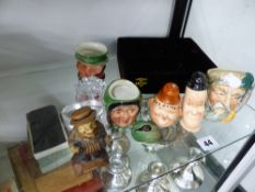 LAUREL AND HARDY SALT AND PEPPER SHAKERS, DOULTON AND BESWICK CHARACTER JUGS ETC.