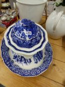 BLUE AND WHITE TUREEN ETC.