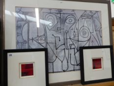 THREE ABSTRACT PICTURES.