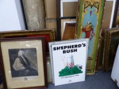 A QUANTITY OF VARIOUS PAINTINGS, PRINTS ETC.