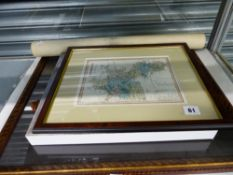 MAP OF OXFORDSHIRE, PRINTS ETC.