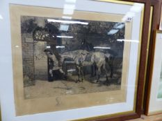 TWO SIGNED ENGRAVINGS.