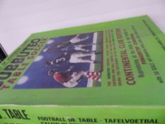 A SUBBUTEO TABLE TOP SOCCER SET, INCOMPLETE.