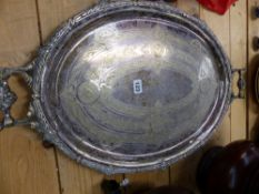A SILVER PLATED TRAY.