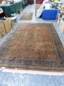 AN EASTERN RUG AND A SIMILAR SMALL RUNNER.