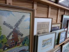 A QUANTITY OF DECORATIVE PRINTS AND PICTURES.