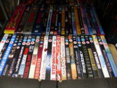 A LARGE COLLECTION OF CDS, DVDS, PLAYSTATION GAMES ETC.