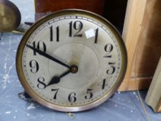 ART DECO OAK CASED THREE TRAIN CHIMING LONG CASE CLOCK.