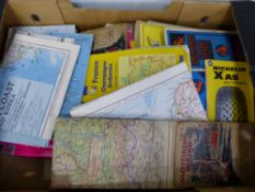 A BOX OF MAPS.