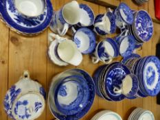 A QUANTITY OF BLUE AND WHITE CHINA WARES.