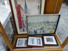 FIVE VARIOUS PRINTS AFTER L.S LOWRY.