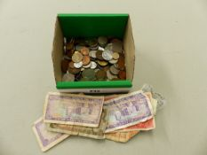 A LARGE QUANTITY OF VINTAGE GB AND COMMONWEALTH COINS AND BANKNOTES.