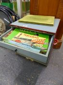 A MULTI DRAWER CABINET CONTAINING VINTAGE MECCANO.