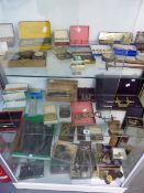 A GOOD COLLECTION OF VINTAGE WATCH MAKERS TURNS, SPARE PARTS AND ACCESSORIES.