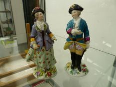 TWO AUSTRIAN FIGURINES.