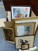 A LARGE QUANTITY OF DECORATIVE PRINTS ETC.