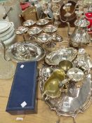 VARIOUS SILVER PLATED WARES.