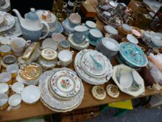 A ROYAL DOULTON REFLECTION PATTERN PART TEA SERVICE, A HORNSEA PART TEA SET,PLATED CUTLERY, AND