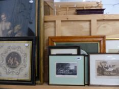 A QUANTITY OF 19th C. ENGRAVINGS ETC.