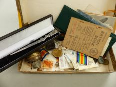 FIVE VARIOUS WORLD WAR I MILITARY MEDALS, VARIOUS INSCRIBED REGIMENTS INC. CFC, TO CPL G. HALL (