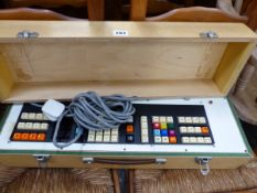 A VINTAGE MILITARY? ELECTRONIC MACHINE THE CASE STENCILED ANAL CYL SMALL 7506-8240.