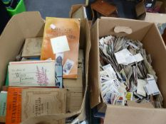 AN EXTENSIVE COLLECTION (BELIEVED IN EXCESS OF 10,000) LOOSE CIGARETTE CARDS, FURTHER CARDS IN ALBUM