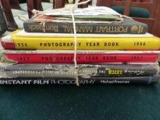 SMALL COLLECTION OF PHOTOGRAPHY RELATED BOOKS.