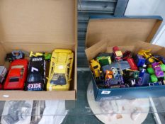 A QUANTITY OF DIE CAST MODEL VEHICLES.