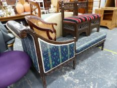AN UNUSUAL FRENCH STYLE CHAISE LOUNGE.