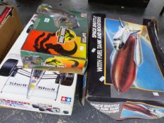 A MCLAREN BIG SCALE SERIES 1:12 SCALE MODEL CAR TO BE MADE, A JURASSIC PARK RAPTOR READY TO ASSEMBLE