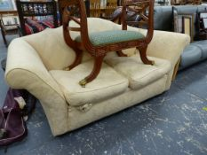 A EARLY 20th C. TWO SEAT SOFA.
