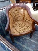 A WILLIAM IV SMALL MAHOGANY CHILDS CHAIR.