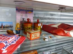 A QUANTITY OF VINTAGE RUSSIAN COLLECTABLES.