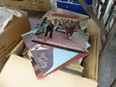 A LARGE QUANTITY OF RECORD ALBUMS.