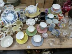 A GROUP OF VARIOUS ANTIQUE AND LATER CHINA WARES INC. CRESTED WARES, ROYAL ALBERT GOSSAMER PART