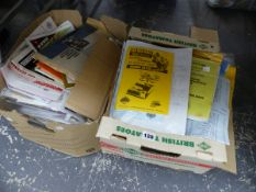 A COLLECTION OF INTERESTING MOTOR RACING AND RELATED EPHEMERA.