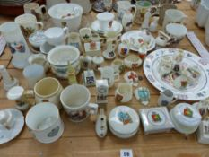 A QUANTITY OF VARIOUS CRESTED WARES AND COMMEMORATIVE CUPS.